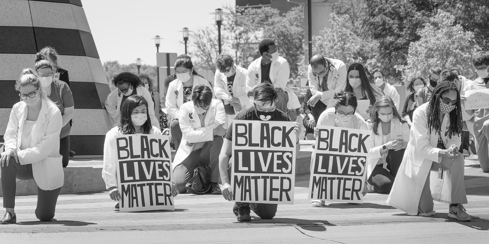 Black Lives Matter event on UNMC's Omaha campus