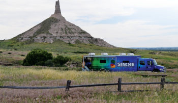 SIM truck near Chimney Rock