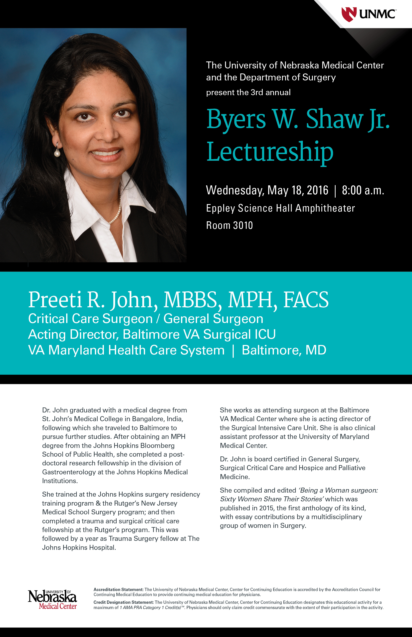 Byers W  Shaw, Jr  Lectureship   Surgery   University of
